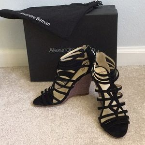 ALEXANDRE BIRMAN amazing soft black suede sandals